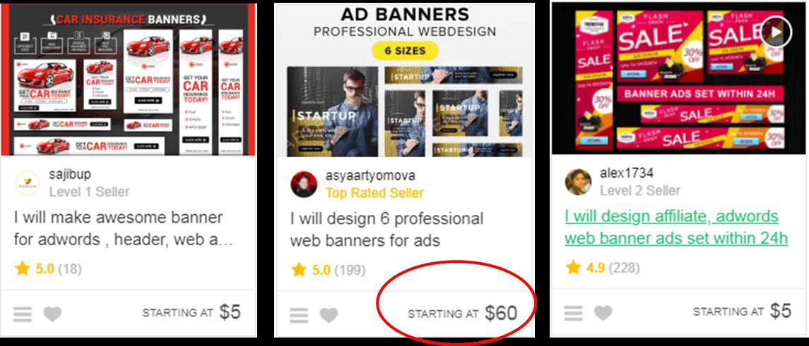 Web Banners Fiverr
