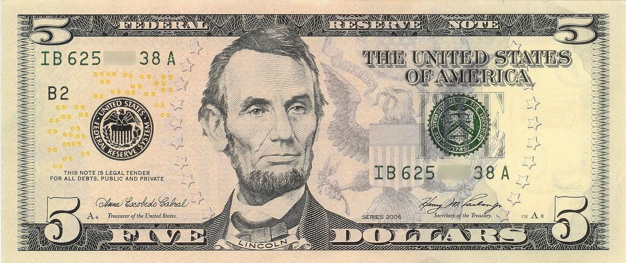 Billete de 5 dólares