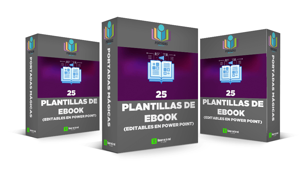 25 Plantillas de ebook editables en PPT 3 cajas