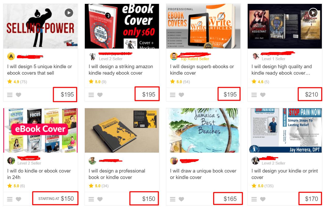 Precio para diseño de portadas de ebook freelancers