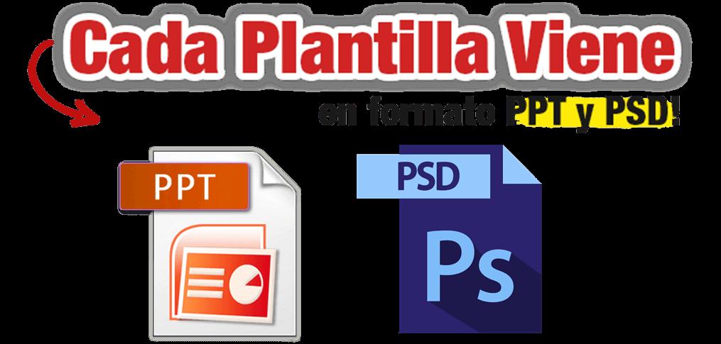 PPT y PSD logos