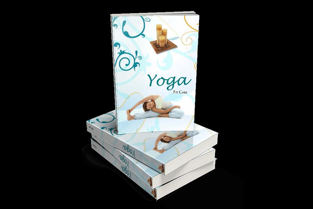 Yoga eBook vertical encima de 3 horizontales