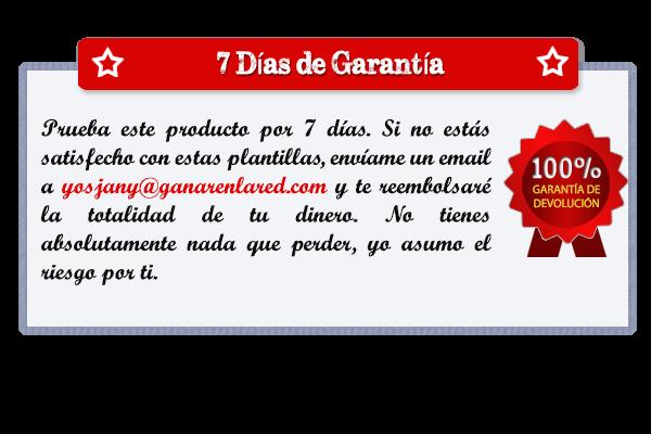 Certificado de garantía Banner Manía 7 días